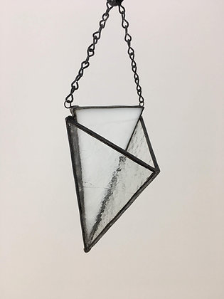 Flat Triangle Hanger - white & clear