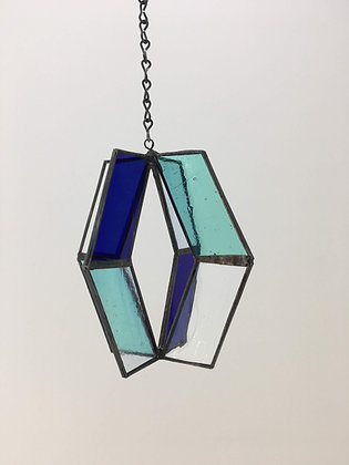 Spinner Sun Catcher - green, blue, light blue