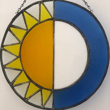 Sun and Moon- yellow and blue