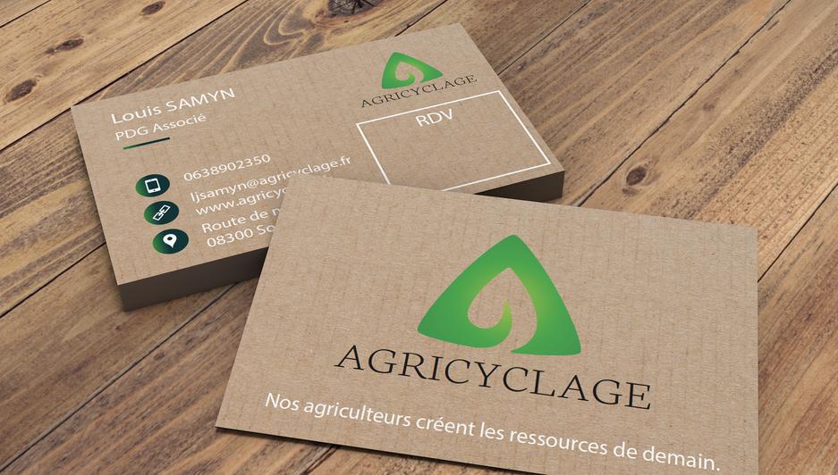 Carte de visite entreprise AGRICYCLAGE.p
