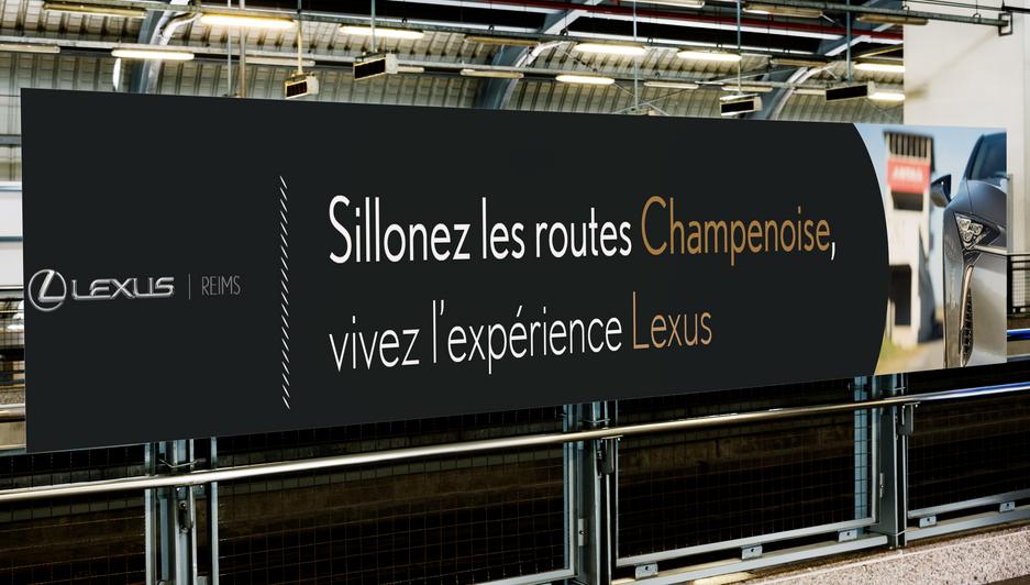 Création de panneaux publicitaire pour Lexus  .png