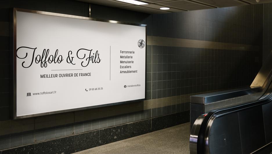 Panneau publicitaire pour L'entreprise Toffolo&Fils