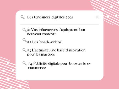Les tendances digitales de 2021