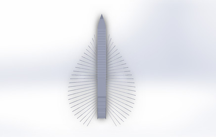 Early SolidWorks models: plan