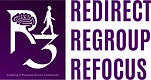 R3 Logo Purple Square Stacked Titles - W