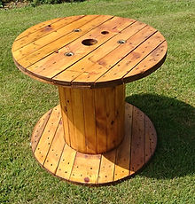Cable reel as table