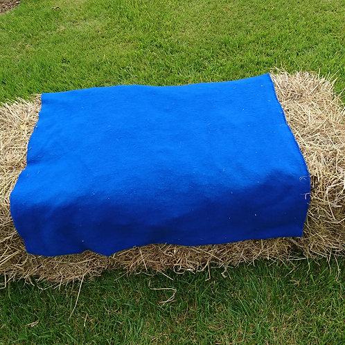 Blue fleece cover
