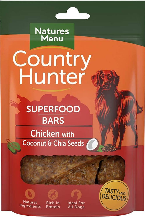Natures Menu Country Hunter Superfood Bars - Chicken