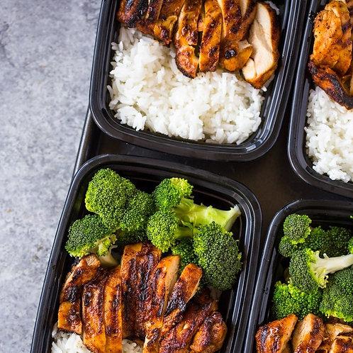 Chicken Rice Broccoli & Sesame Sauce