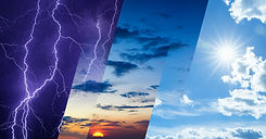 Weather forecast concept, climate change