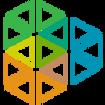 logotipo de triángulo multicolor