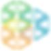 Multicolored triangle logo