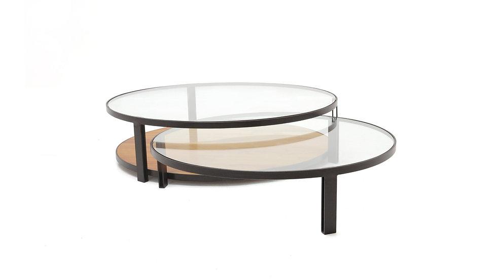 Conjunto Mesa de centro Flat redonda