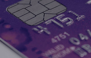 Portion of security chip on Credit Card