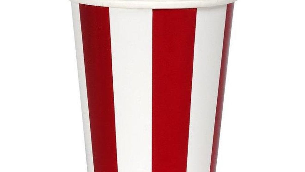 Shiny Red Stripes Cup