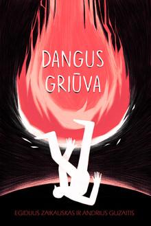 """Book cover """"Dangus griuva"""""""