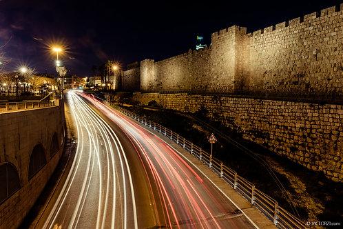 סדנת צילום מריחות תנועה בלילה בירושלים