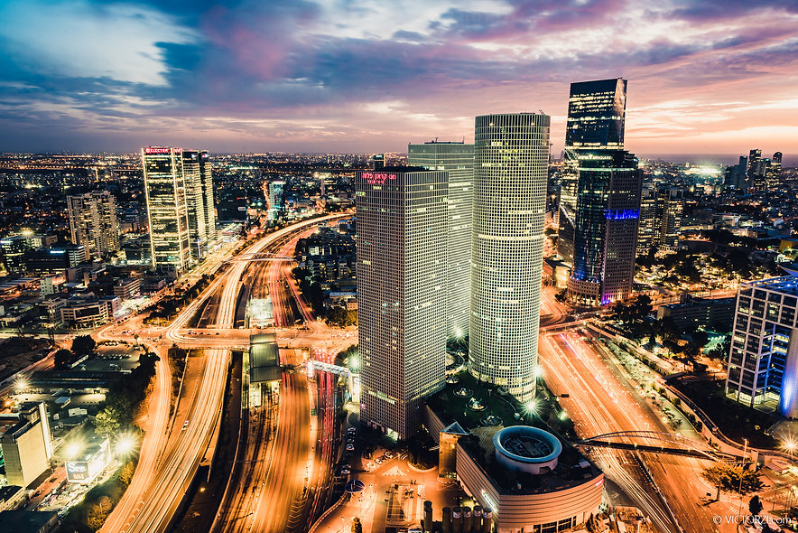 Tel Aviv at the Blue Hour