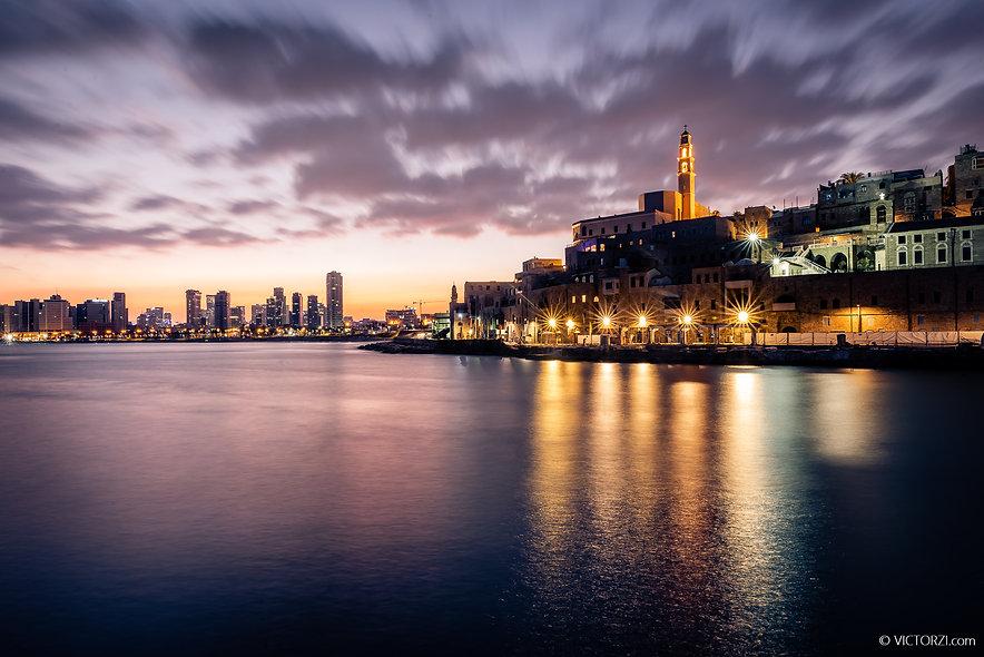 Sunrise inthe Jaffa Port