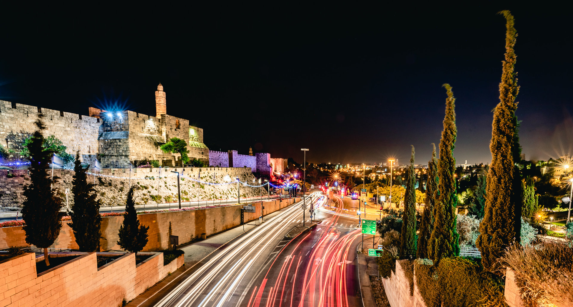 Night Photography in Jerusalem