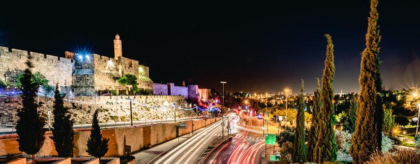 Night Photography in Jerusalem