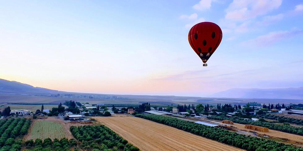 סדנת צילום נוף אווירי - טיסה על כדור פורח - SOLD OUT