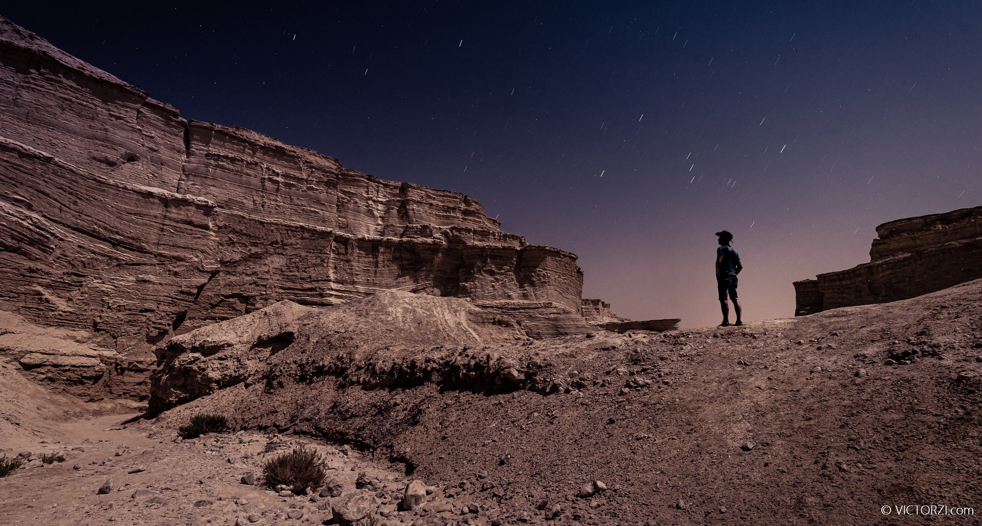 Moon Lit Landscape Photography at the Dead Sea