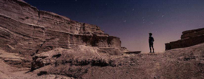 Moon Lit Landscape Photography at the Dead Sea