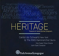 CD cover, Heritage, Gilad Hochman, Azi Schatz, RIAS Kammerchor