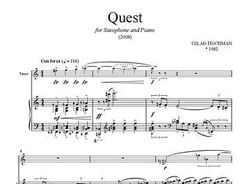 Quest Saxophone Piano Gilad Hochman