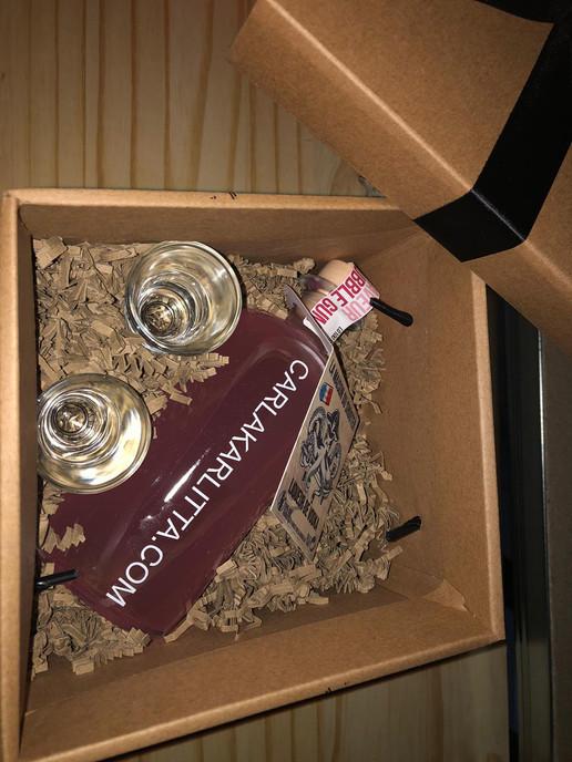 personnalisation bouteille client cadeau