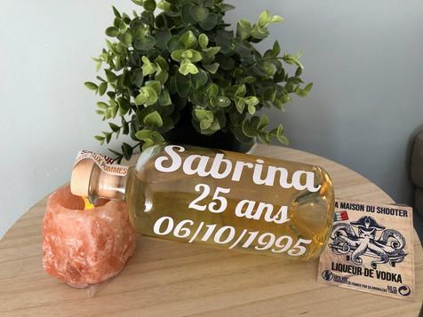 personnalisation bouteille anniversaire