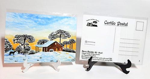 Kit com cinco cartões - Frio no Sul, Lembre da Serra Gaúcha