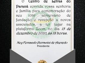 CENTRO DE LETRAS DO PARANÁ COMPLETA 108 ANOS