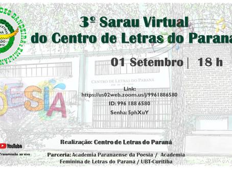 PROGRAMAÇÃO DE SETEMBRO DO CENTRO DE LETRAS DO PARANÁ
