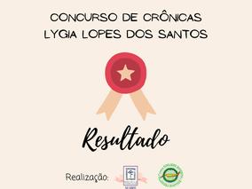 RESULTADO DO CONCURSO DE CRÔNICAS LYGIA LOPES DOS SANTOS