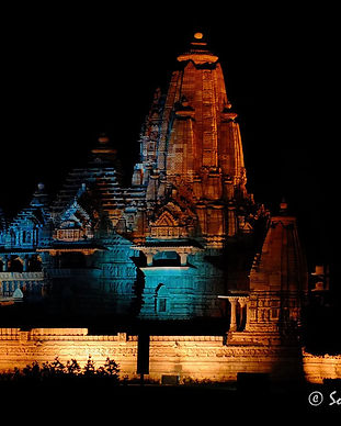 khajuraho-temple-at-night-during-light-a