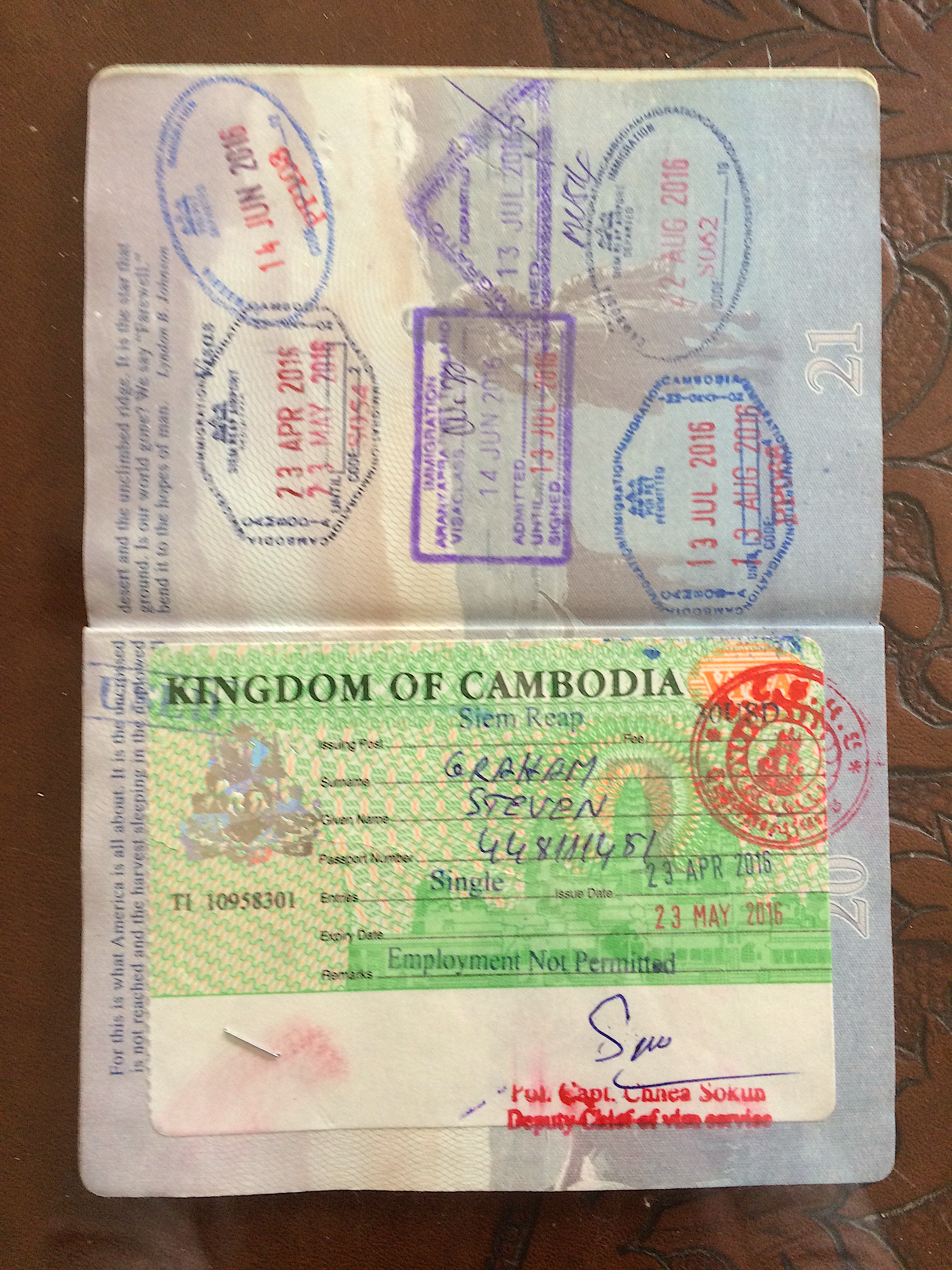 Passport-Cambodia Visa