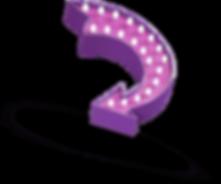 purple vintage lightbulb arrow