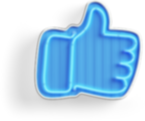Neon Facebook Like button