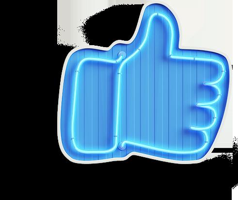 Neon Facebook Like button