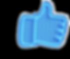 Facebook Like button neon blue