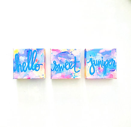 "4x4"" Custom Triptych Paintings"