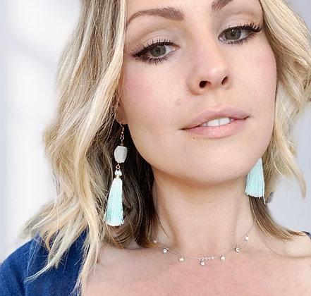 Aguamarina Earrings