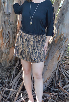 Cool and Calm // Snake Print Mini Skirt