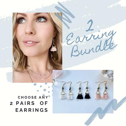 2 Pairs of Earrings Bundle