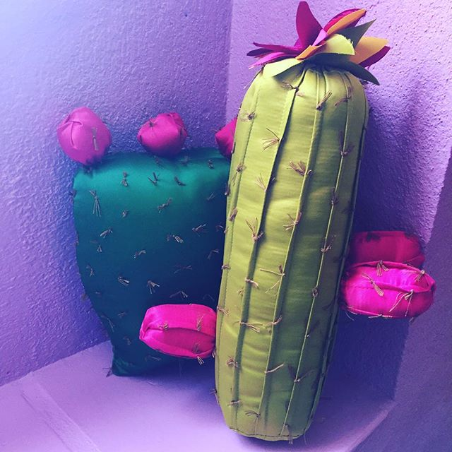 In love with these handmade #cacti pillows from Mercado Organica and lots of other goodies comin bac