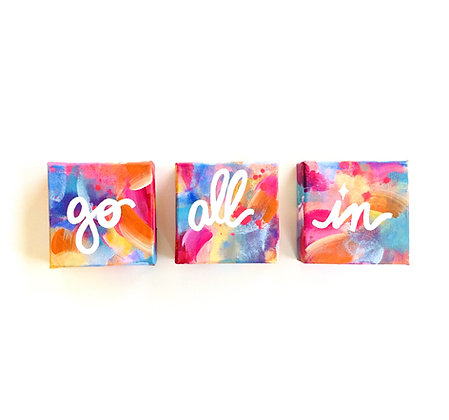 go all in triptych