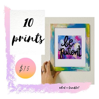 10 Print Bundle
