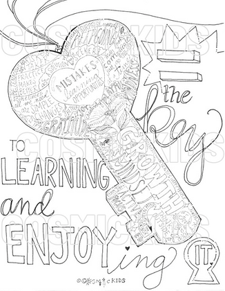 The Key to Learning Coloring Sheet